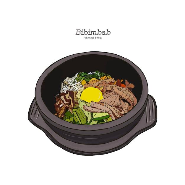 Bibimbab Vecteur Premium