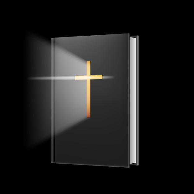 Bible Réaliste Vecteur Premium