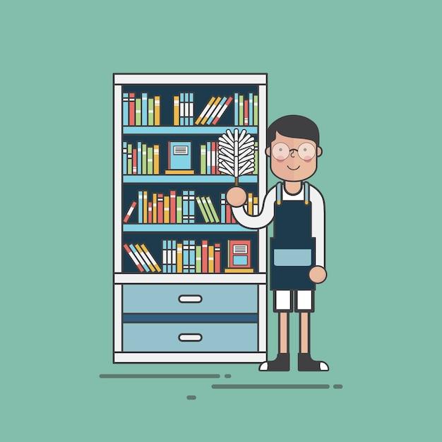 Bibliothécaire Vecteur gratuit