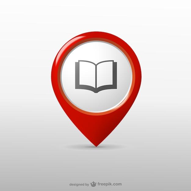 Bibliothèque Icône De Localisation Vecteur gratuit