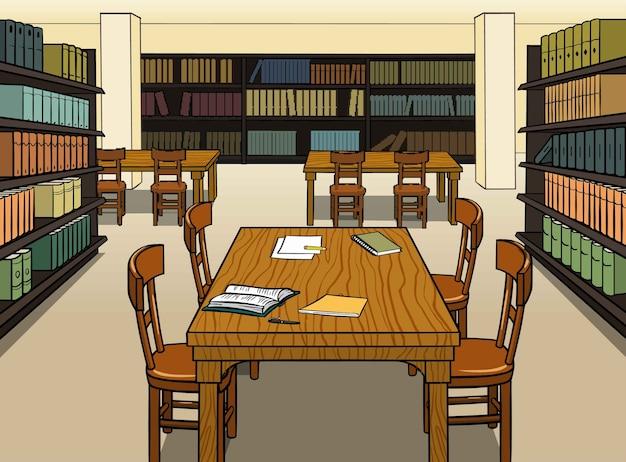 Bibliothèque Vecteur Premium