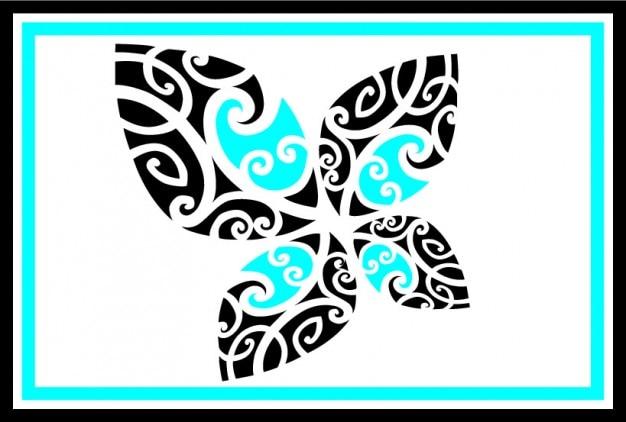 Bichromie papillon tribal t l charger des vecteurs - Tribal papillon ...