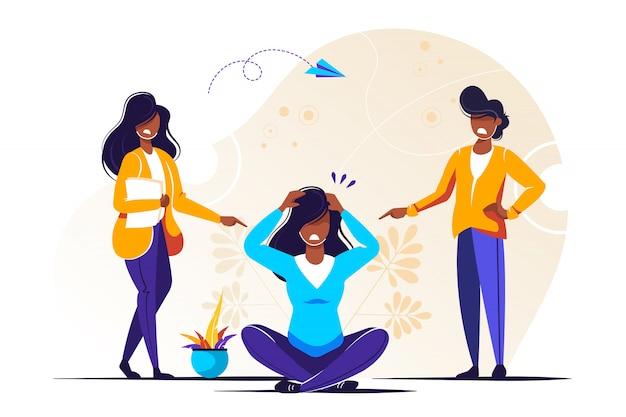 Bienfaits Du Yoga Sur La Santé Du Corps, De L'esprit Et Des émotions Vecteur Premium