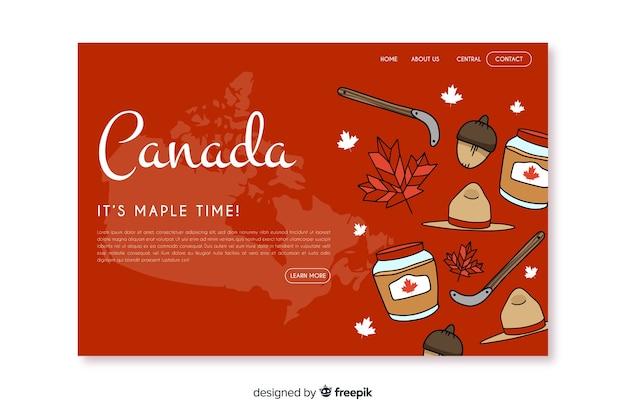 Bienvenue Sur Canada Landing Page Vecteur gratuit