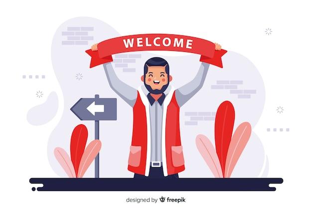 Bienvenue concept illustration Vecteur gratuit