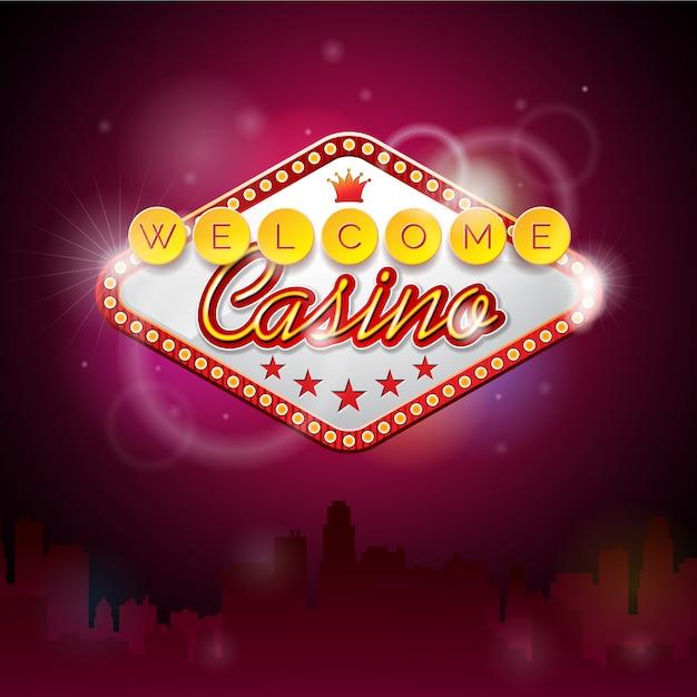 Bienvenue dans le contexte du casino Vecteur gratuit