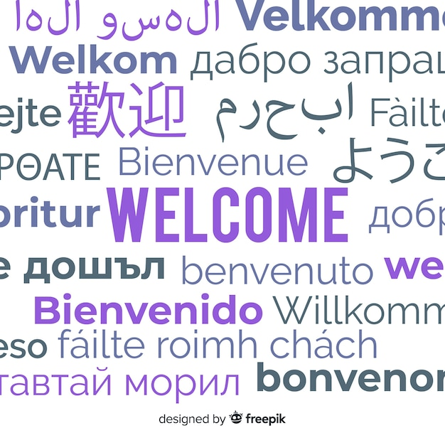 Bienvenue Dans Différentes Langues Vecteur gratuit