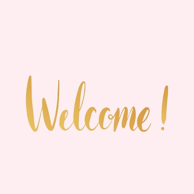 Bienvenue! Vecteur De Style Typographie Manuscrite Vecteur gratuit