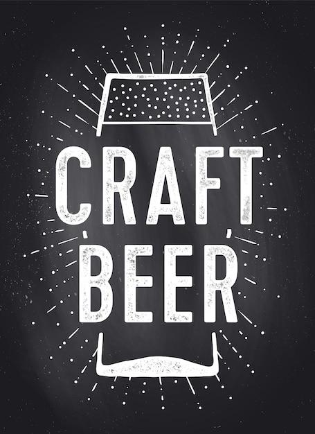 Bière Artisanale. Poster Ou Vecteur Premium