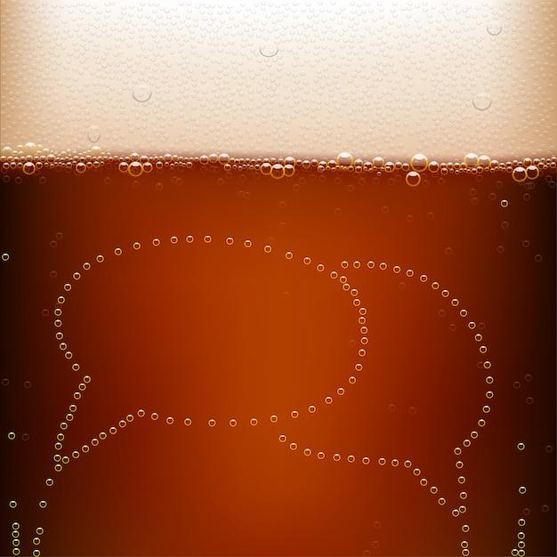 Bière Brune Vecteur Premium