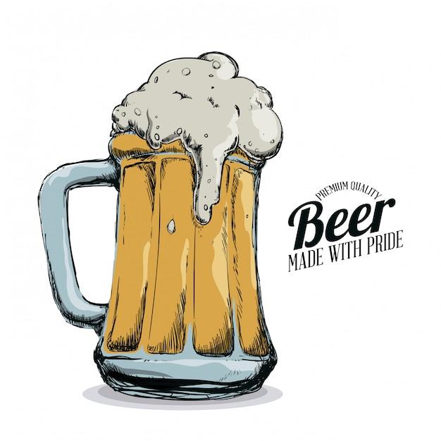 Bière froide Vecteur Premium