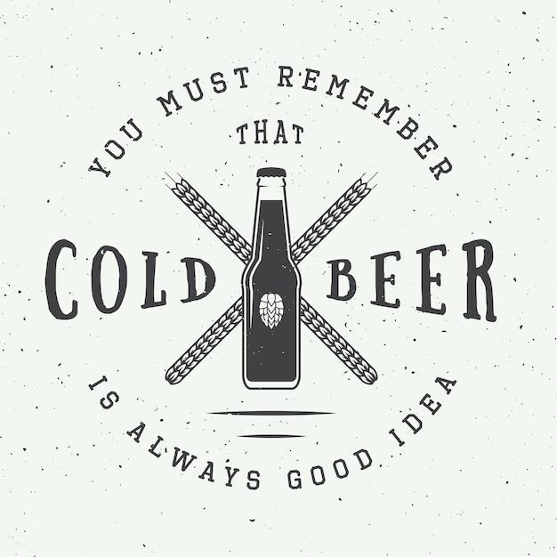 Bière Et Pub Vecteur Premium