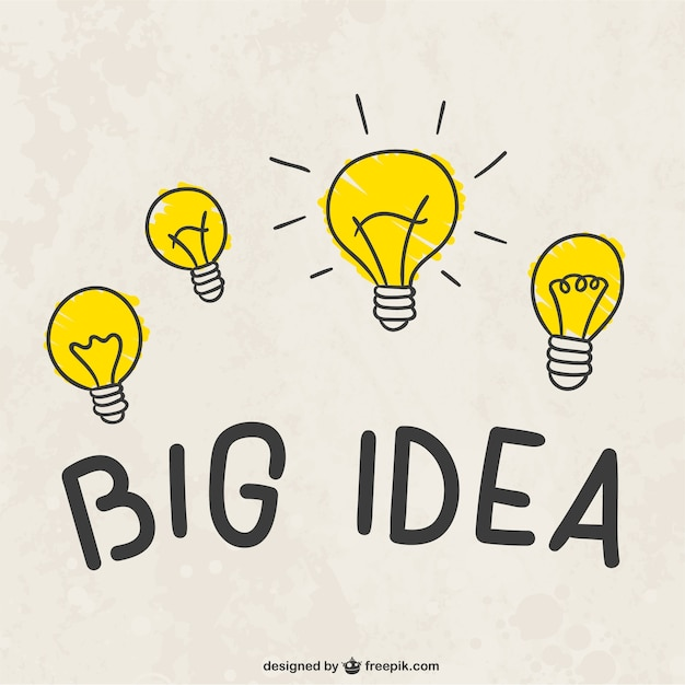 Big ampoules idée Vecteur gratuit