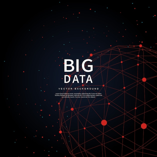 Big data des technologies futures Vecteur Premium
