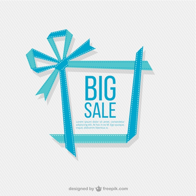 Big Sale Background Vecteur gratuit