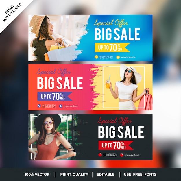 Big sale facebook covers Vecteur Premium