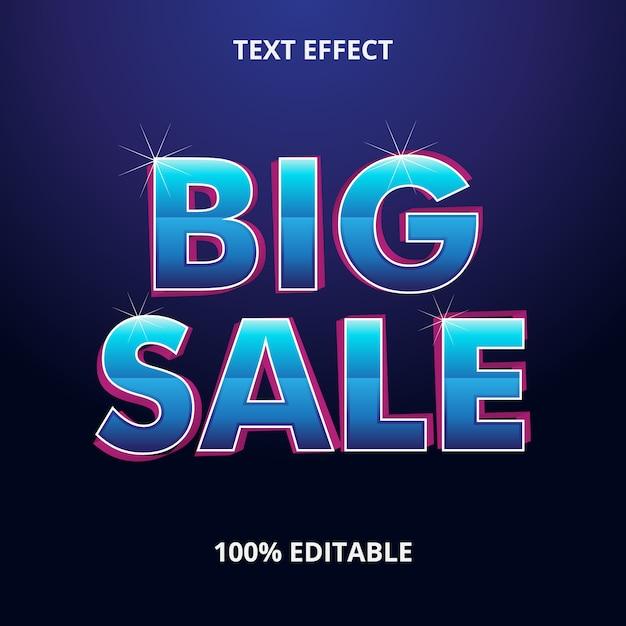 Big Sale Text Effect Premium Eps Vecteur Premium