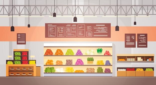 Big shop super market intérieur du centre commercial Vecteur Premium