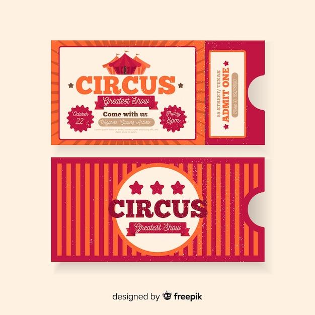 Billet de cirque vintage Vecteur gratuit