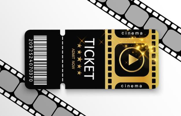 Billets Pour Assister à Un événement Ou à Un Film. Vecteur Premium