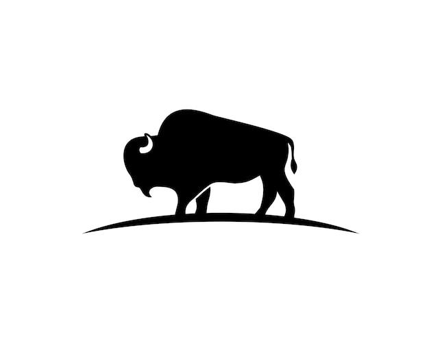 Bison Sillhouette Vecteur Premium