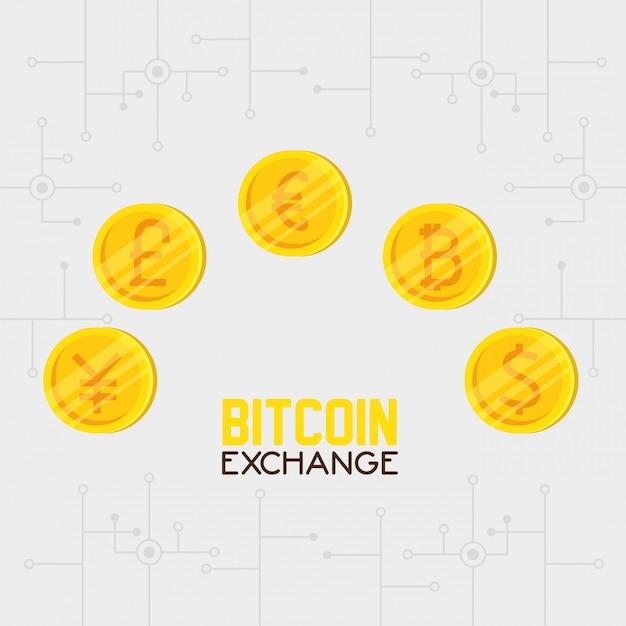 Bitcoin monnaie électronique Vecteur gratuit
