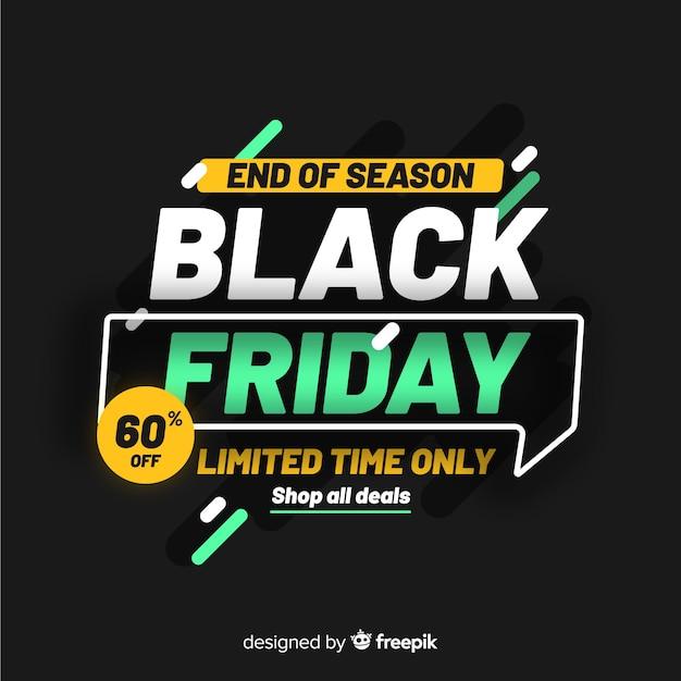 Black Friday Concept Fin De Saison Vecteur gratuit