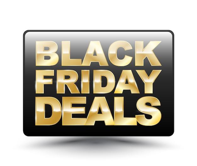 Black friday deals square tag Vecteur Premium