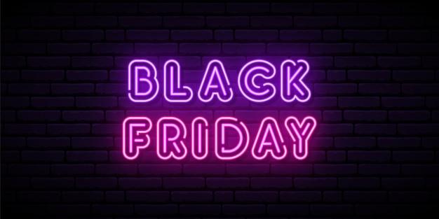 Black Friday Enseigne Au Néon. Vecteur Premium
