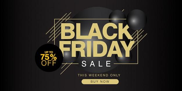 Black friday: jusqu'à 75% de réduction sur la bannière Vecteur Premium