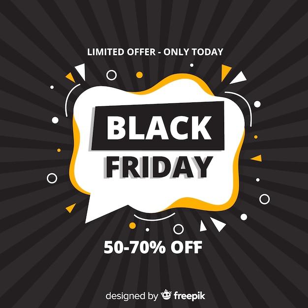 Black friday offre limitée en design plat Vecteur gratuit