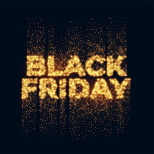 Black friday, paillettes d'or Vecteur gratuit