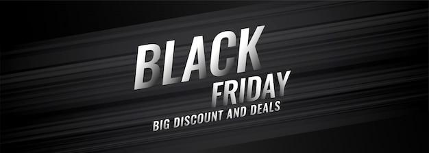 Black friday réduction et offres bannière design Vecteur gratuit