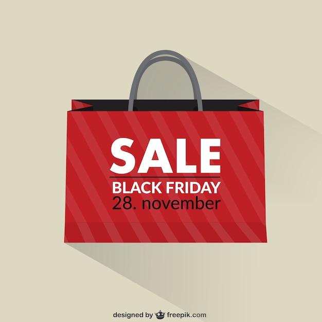 Black friday sac de vente Vecteur gratuit
