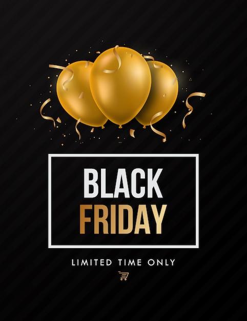 Black Friday Trendy Sale Design. Vecteur Premium