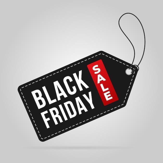 Black friday vente étiquette étiquette prix vente bannière Vecteur Premium