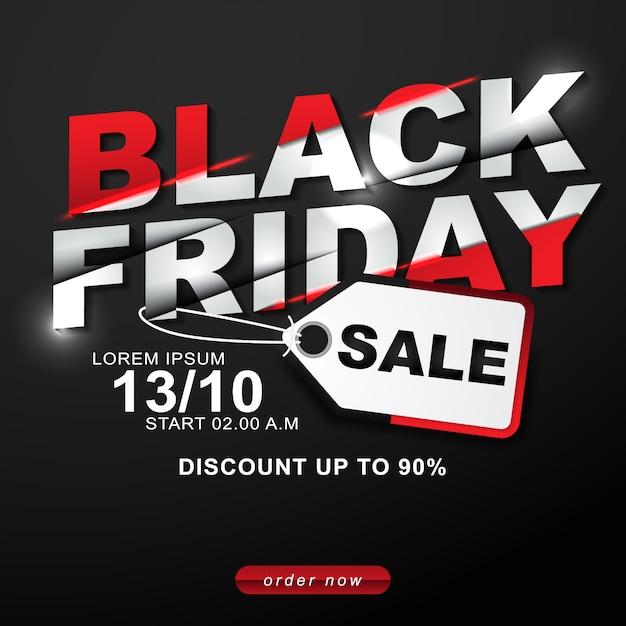 Black friday vente off modèle de remise Vecteur Premium