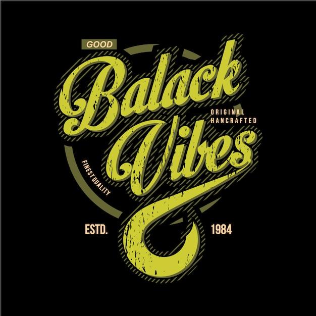 Black vintage typographie graphique design vintage Vecteur Premium