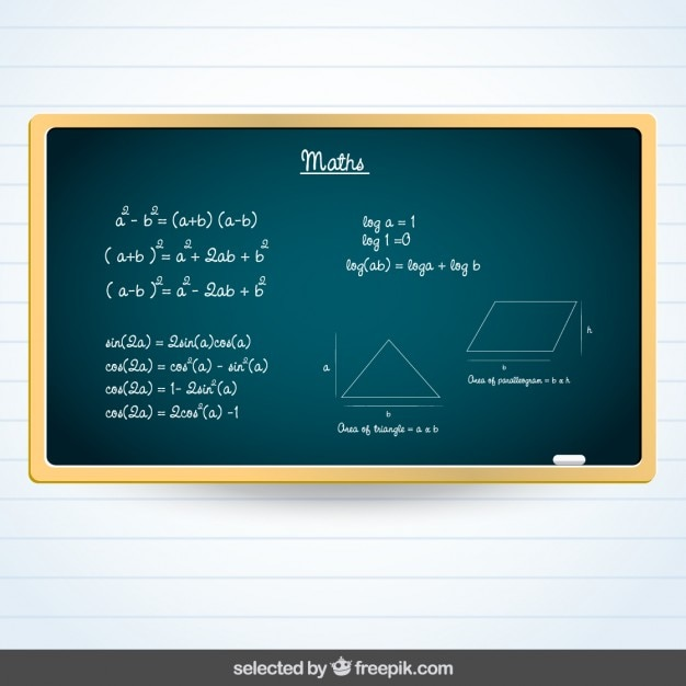 Blackboard avec le sujet maths Vecteur gratuit