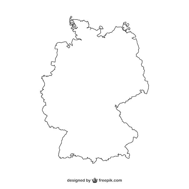 Carte Allemagne Noir Et Blanc.Blanc Allemagne Silhouette Telecharger Des Vecteurs
