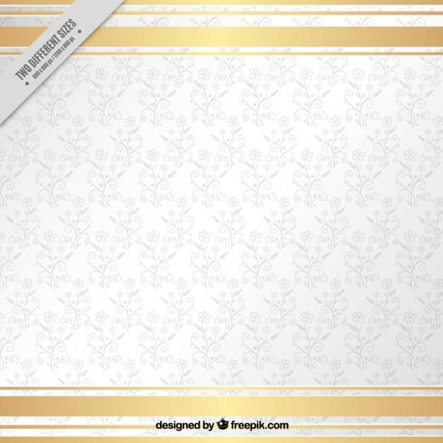 Blanc bacground ornemental Vecteur gratuit