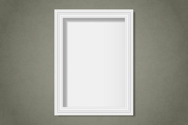 Blanc Cadre Vierge Sur Le Mur Vecteur gratuit