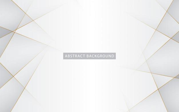 Blanc élégant avec ligne dorée Vecteur Premium