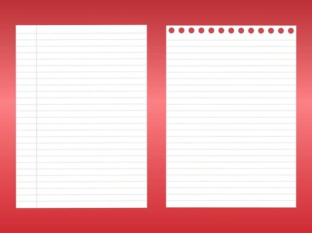 Blanc pack de vecteur de feuilles de bloc notes - Telecharger un bloc note pour le bureau ...