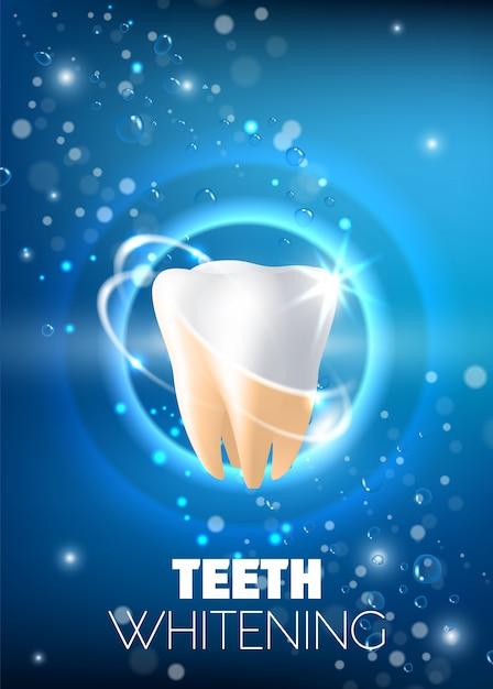 Blanchiment Des Dents Illustration Vectorielle Réaliste Vecteur Premium
