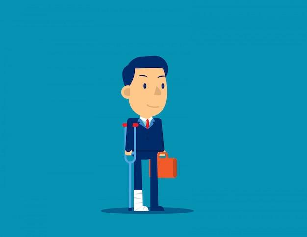Blessure D'un Homme D'affaires Concept D'échec Des Employés Vecteur Premium