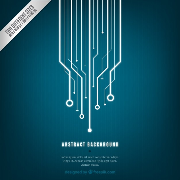 Bleu abstrait de la technologie Vecteur gratuit