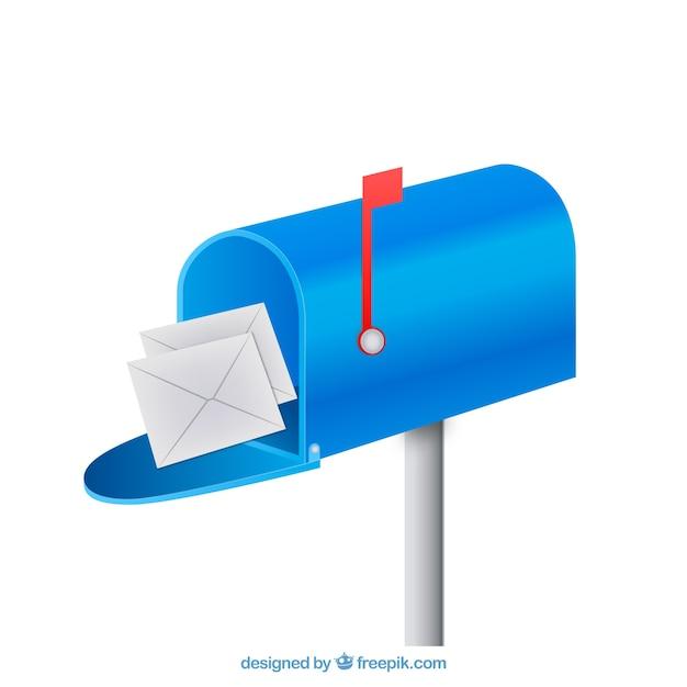 bleu bo te aux lettres de fond avec des enveloppes t l charger des vecteurs gratuitement. Black Bedroom Furniture Sets. Home Design Ideas