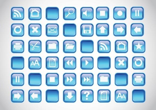 bleu boutons ic u00f4nes