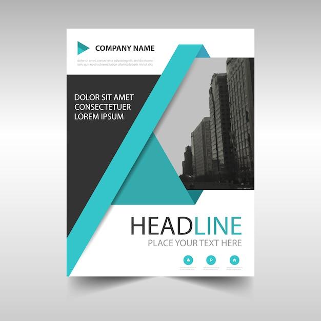 Bleu créatif rapport annuel modèle de couverture du livre Vecteur gratuit